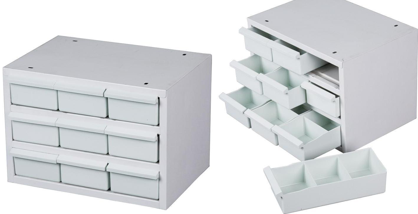Casier De Rangement Outils Acier 9 Tiroirs Plastique Mobilier D
