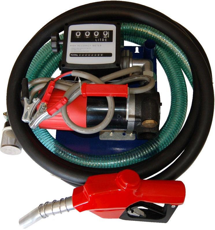 pompe de transfert gasoil 24v 80l min avec tuyaux pistolet et d bim tre graissage. Black Bedroom Furniture Sets. Home Design Ideas