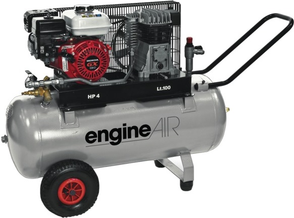 Compresseur Thermique 100L 3,5CV EngineAIR à Essence