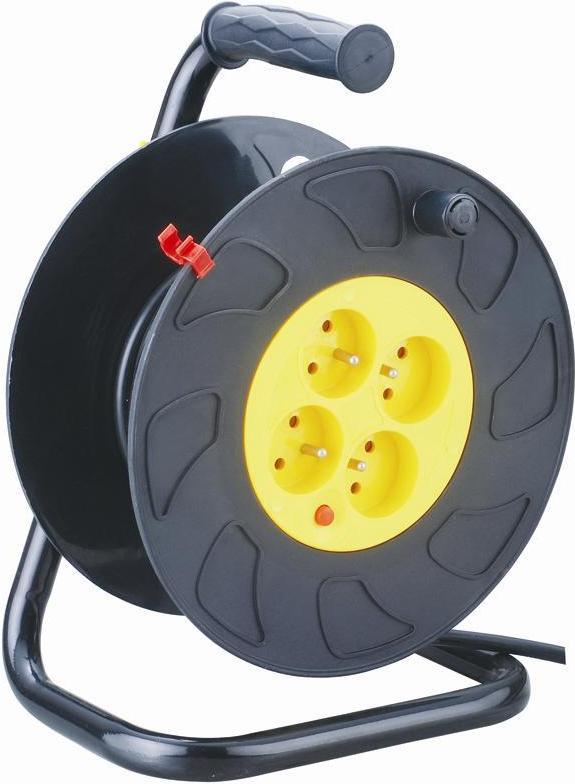 Enrouleur lectrique 25m rallonge 4 prises enrouleur et - Rallonge electrique 25m ...
