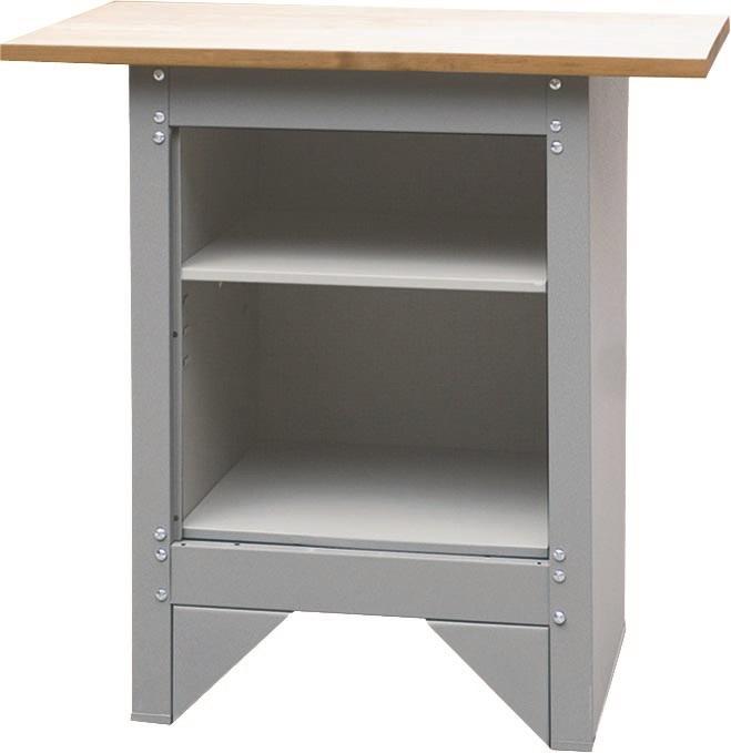 tabli d 39 atelier en t le d 39 acier et plateau bois mobilier d 39 atelier. Black Bedroom Furniture Sets. Home Design Ideas