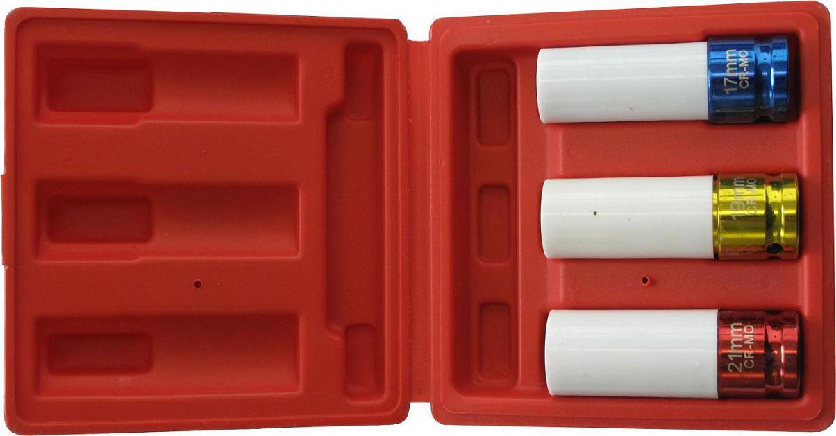 coffret 3 douilles choc 1 2 pour jantes aluminium douille douille choc cl cliquet et. Black Bedroom Furniture Sets. Home Design Ideas
