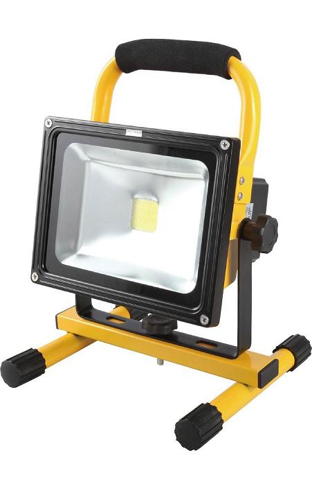 Projecteur De Chantier Led 20W Portable IP44 Rechargeable