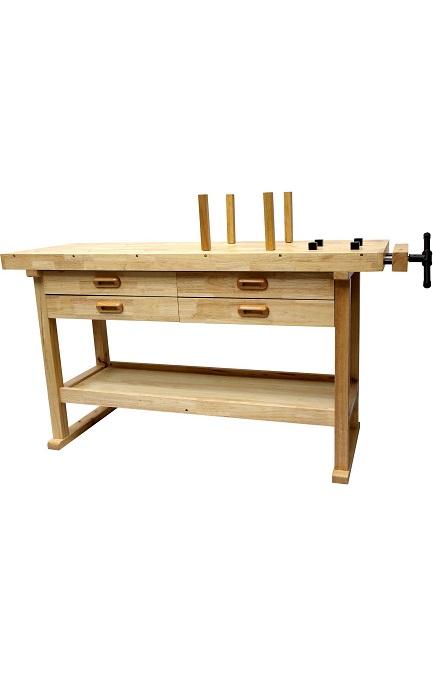 tabli bois de menuisier 1 2m 2 tiroirs 2 taux tabli bois menuisier. Black Bedroom Furniture Sets. Home Design Ideas